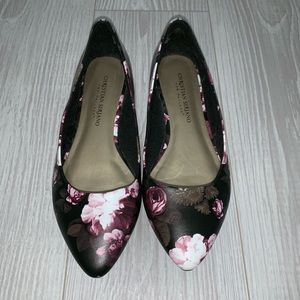 Christian Siriano floral ballet flats size 6
